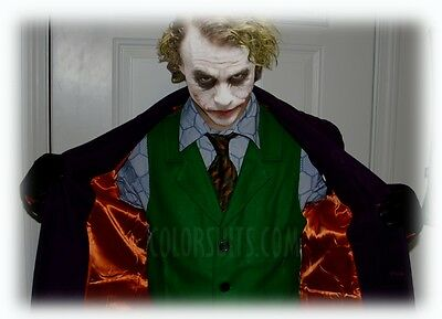 Elite Series: The Dark Knight Joker Costume - Jacket, Shirt, Tie, Vest, Socks