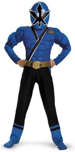 Child TV Show Nick Super Power Rangers Samurai Classic Deluxe Muscle STD Costume