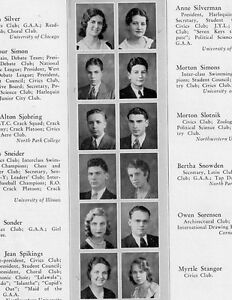 1931 Chicago Il Roosevelt High School Yearbook History