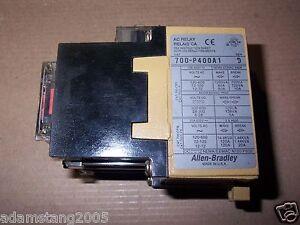 ALLEN BRADLEY 700 P400A1 SER D AC RELAY