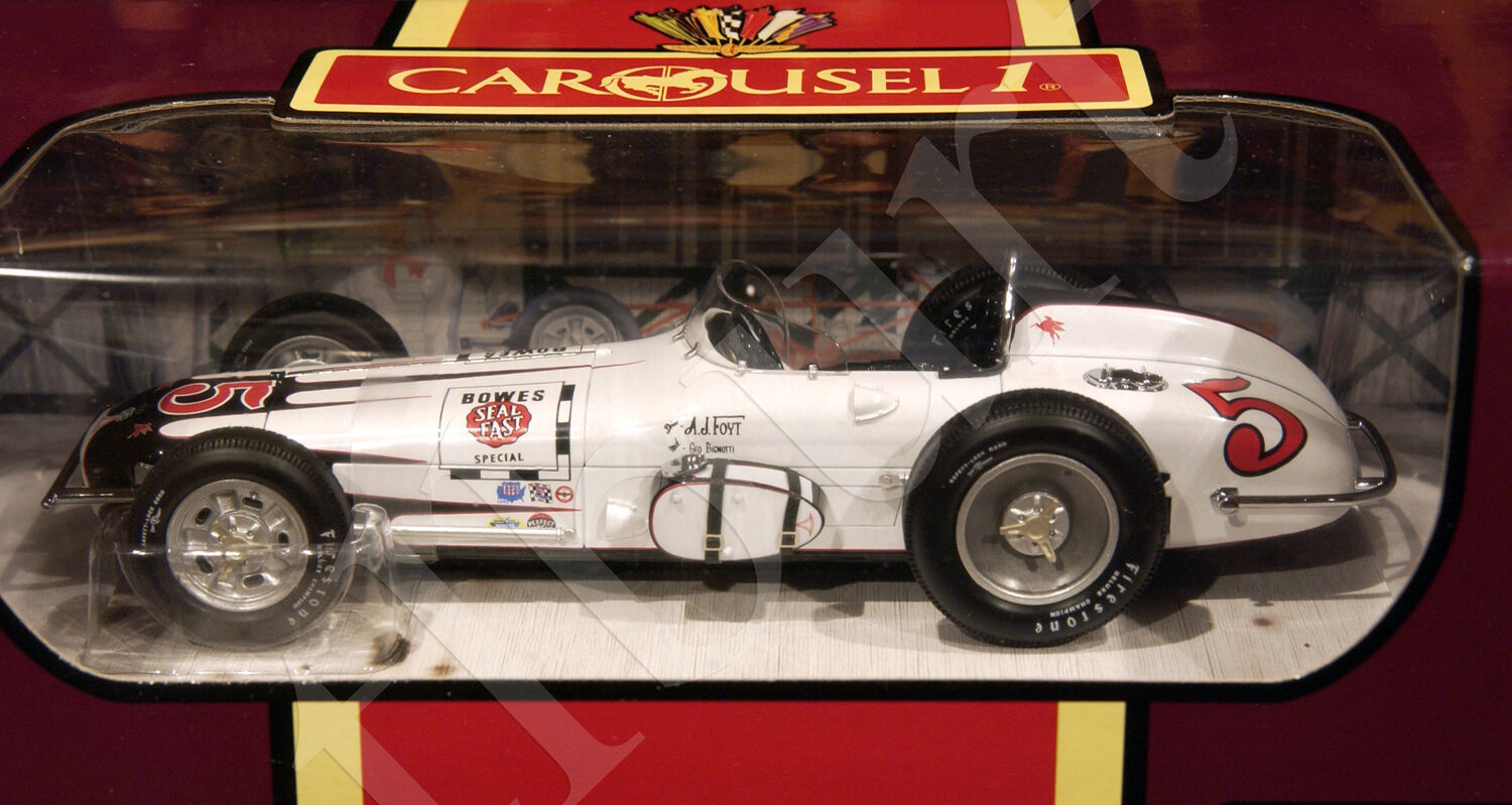 Vintage 1960 Indy 500 A J Foyt Bowes Seal Fast Roadster Carousel 1 18 Diecast