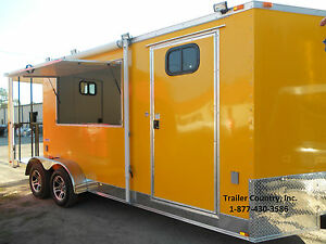 NEW-7x20-7-x-20-Custom-Enclosed-Concession-Food-Vending-BBQ-Trailer-w-Porch