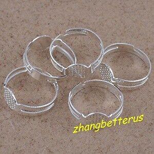 30-Pcs-Silver-Plated-Adjustable-stripe-hole-split-ring-set-18mm