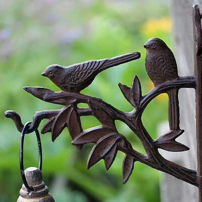 Hanging Basket Bracket Cast Iron Bird Silhouette x 3