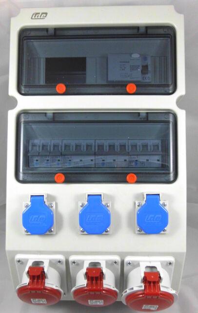Wandverteiler Kleinverteiler Unterverteilung Verteilung Bestückt CEE 16 32 FI 63