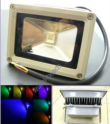10W 20W 30W 50W LED RGB COLOR SPOTLIGHT Flood Light 85-265V Waterproof