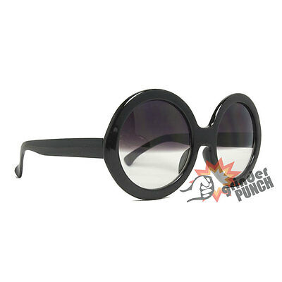 Half Tinted Sunglasses Circle Round Designer Inspired Sunnies Womens Gradient