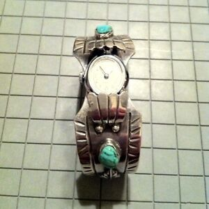 6.75 Navajo Turquoise and Sterling Silver Cuff Watch