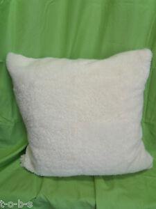 Pottery Barn West Elm Sheepskin Fur Bed Sofa FLOOR Throw Pillow Cover Insert 30