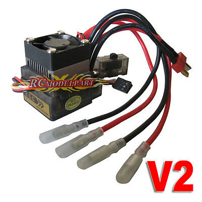 320A High Voltage Brushed ESC Speed Controller for 4WD 1/10 On-road Car Truck T