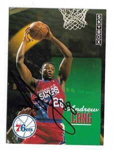1993-SKYBOX-385-ANDREW-LANG-AUTO-SIGNED-CARD-NBA-B-76ERS-ARKANSAS