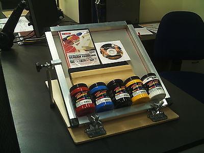 Screen Printing  Speedball Hinge clamp Micro Starter kit A4  Size Printing