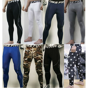 New-Mens-COMPRESSION-Base-Layer-Pants-or-Short-tight-under-skin-sports-gear