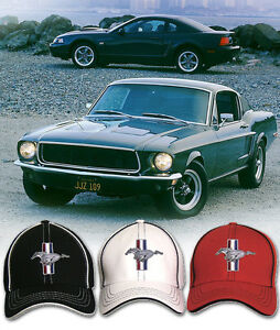 Mustang Logo Flex Fit Hat Ford Pony Gt Gt350 Gt500 Cobra