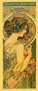 Mucha-Chocolate-Candy-Advertising-Amatller-Spain-Vintage-Poster-Repro-FREE-SHIP