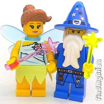 Lego Kingdoms Fairy & Blue Wizard Minifigures 8833 7952 NEW