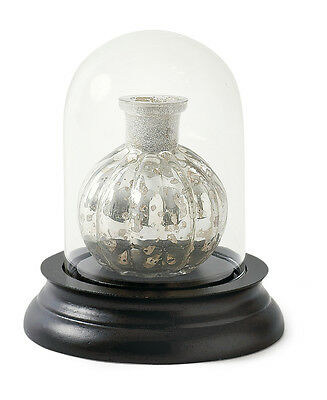 Vintage Extra Small Glass Dome Bell Jar With Wooden Base - CLOUDY GLASS SECOND