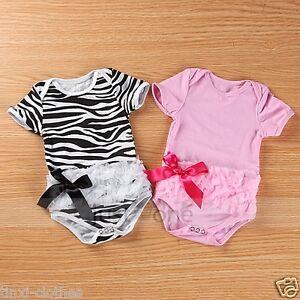 Baby-girl-bodysuit-one-piece-Romper-Jumpsuit-Princess-kids-T-shirt-amp-dress-0-12M