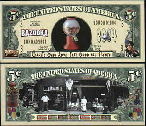 Lot-of-100-OLD-TIME-CANDY-5-CENT-PEZ-BAZOOKA-BILLS