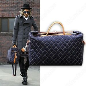 55e3f2c7d5f Men s Quilted Travel Weekend Gym Bag Laptop Briefcase Satchel 2 ...
