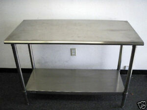 NSF-ALL-STAINLESS-STEEL-UTILITY-TABLE-B-GRADE-FREE-SHIPPING
