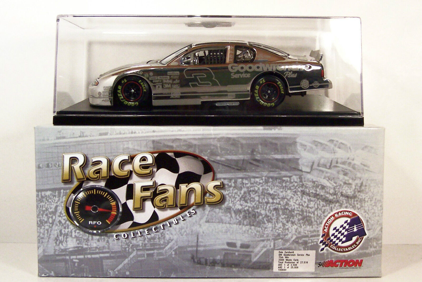 ACTION  DALE EARNHARDT  GOODWRENCH  PLATINUM  75TH WIN  1 24