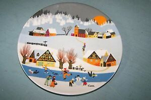 Vintage-NOS-German-E-amp-A-BOCKLING-collector-plate-1-WINTERMARCHEN