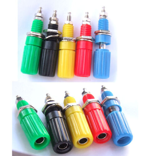 200PCS colors Binding Post JACK FOR Speaker Power supply Banana Plug Test probes