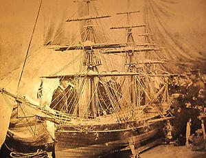 ANTIQUE-MAGIC-LANTERN-SLIDE-PHOTO-HMS-HOWE-VICTORIAN-BRITISH-TRAINING-SHIP-MODEL