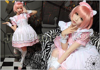 Lolita japan Kera Dreamy Cafe waitress Cosplay maid dress costume JJ3006 P