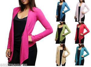 NEW-Women-Ladies-Long-Sleeve-Casual-Open-Front-Asymmetrical-Light-Cardigan-Wrap
