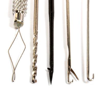 5 piece bait tool set drill bait spike clasp baiting needle threader stringer