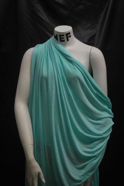 100% Bamboo Knit Jersey  6 oz EcoFriendly Aqua Blue Semisheer