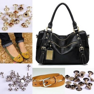 Wholesale New150sets Silver/Brass/Bronze Cap Dot Stud Rivet For Bags/Bell/Shoes