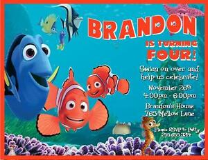 Details About Finding Nemo Birthday Invitations Style 4