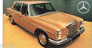 Mercedes benz 300sel 300 sel 6 3 spec sheet brochure for 1969 mercedes benz parts