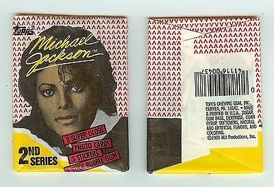 1984 Topps Michael Jackson 2nd series single Wax Pack