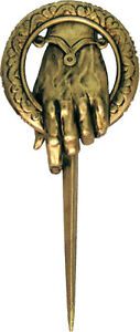 NEW-HBO-Game-of-Thrones-Authentic-Prop-Hand-of-the-King-Pin-Brooch-Ned-Stark