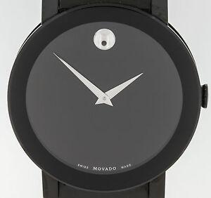 movado black pvd stainless steel men 039 s watch 84 g1 3896 a image is loading movado black pvd stainless steel men 039 s