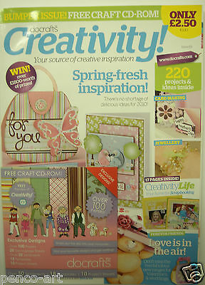 Docrafts magazine January 2010 issue 19 with a free CD Rom