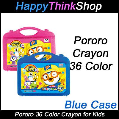 Pororo 36 pcs Color Crayon For Kids (Oil Pastel) Blue Case