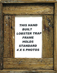 4-x-6-Lobster-Trap-Dark-Wood-Vertical-Picture-Frame-Nautical-Art-Print