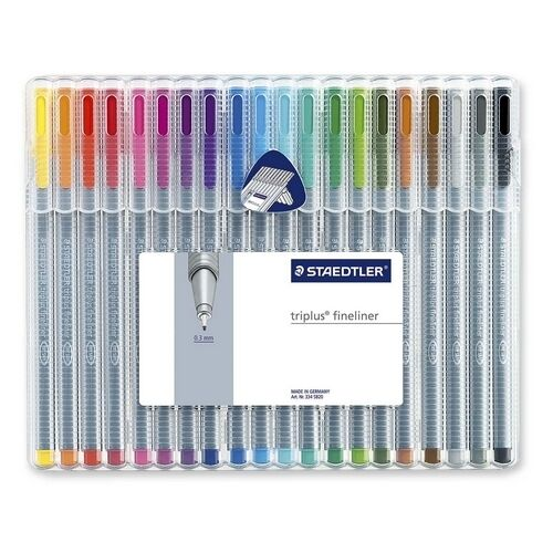 Staedtler Mars Triplus Fineliner Porous Point Pen 334sb20 0.3mm superfine