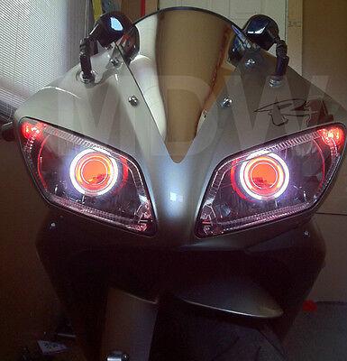 HID Bi-Xenon Motorcycle Projector Len Kit Headlight For Yamaha R1 04 05 06 07 08