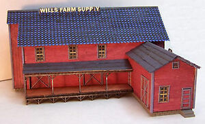 WILL'S FEED & SEED N Scale Model Railroad Structure Unptd Wood Laser Kit RSL3008