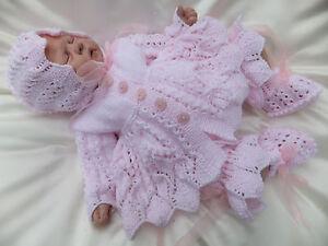 Free Knitting Patterns For Reborn Dolls : KNITTING PATTERN TO MAKE *PATIENCE* 4 PIECE MATINEE SET ...