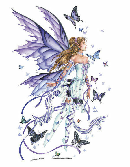 LARGE LAVENDER SERENADE Fairy Sticker Car Vinyl Decal Nene Thomas faery faerie
