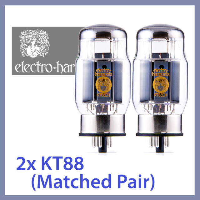 2x NEW Electro Harmonix KT88 EH Vacuum Tubes, Matched Pair TESTED