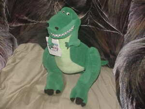 13-034-Disney-Jointed-Rex-Plush-Toy-With-Tags-From-1st-Toy-Story