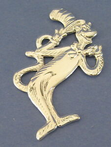 Cat-in-the-Hat-Dr-Seuss-Christmas-Tree-Ornament-Silvertone-Metal-Bow-Tie